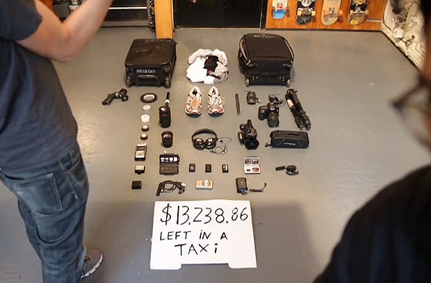 Man Leaves $13K Worth of Camera Gear in a NYC Taxi, Gets It Back taxi mini