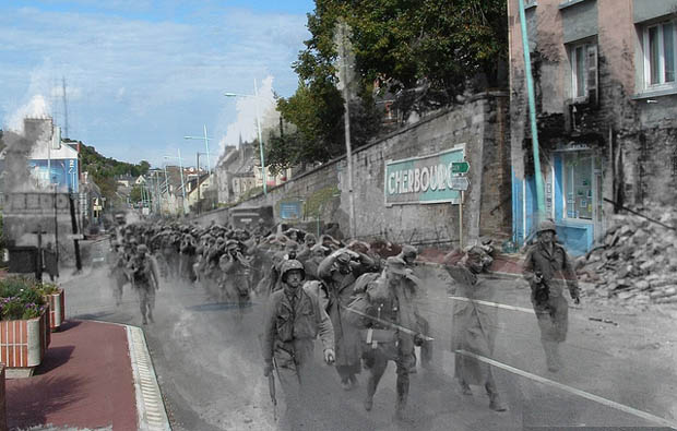 Ghosts of WWII: Photos of Soldiers Seen in the Streets of Modern Day France 4937119178 8fcdc2fdaf z