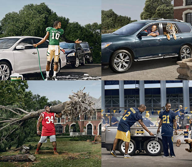 BTS: Shooting Heisman Winning Football Players for Nissan Advertisements heismanaward