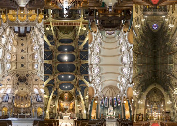 Trippy 180 Degree Vertical Panoramas of Churches in New York City trippy