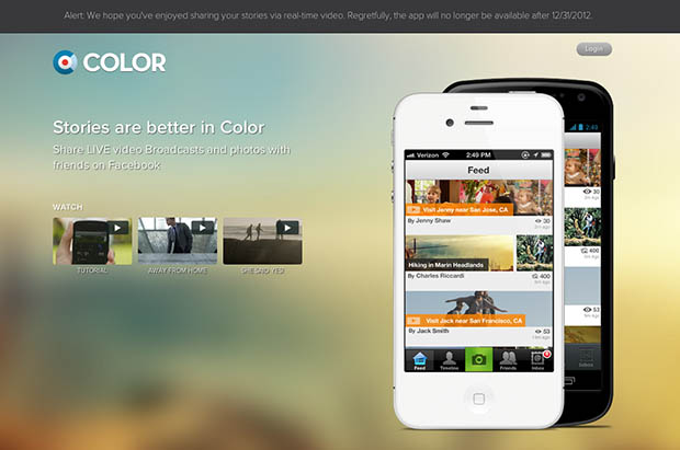 Photo Sharing App Color Shutting Down, Sold for $7M After Raising $41M colorshutting