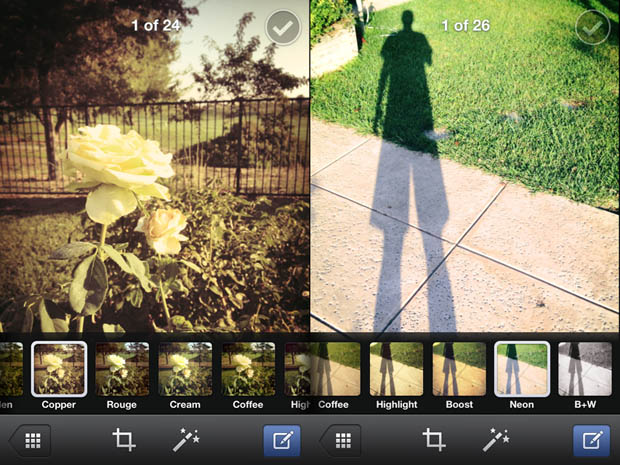 Facebook Quietly Adds Photo Filters to Primary iOS App facebookfilters