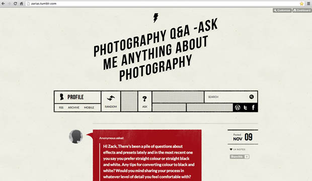 1000 Questions Answered by Professional Photographer Zack Arias qandazackarias