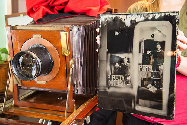 Mirror Self Portrait Captured Using a Wet Plate Camera wetplateselfie6