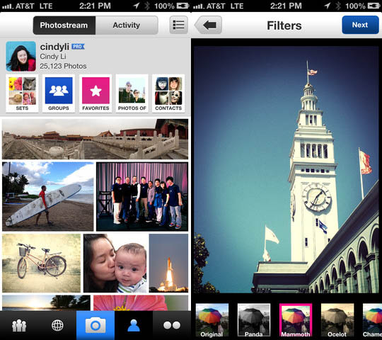 Flickr Updates Its iPhone App, Joins the Retro Filter Party flickrapp1