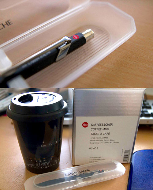 Spotted: A Leica Branded Pen and Coffee Cup, and a Pentax Q10 Watch leicacup