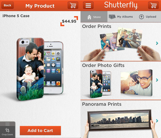 Shutterfly Breaking Into Mobile Photo Gift Making with New iOS App shutterfly1
