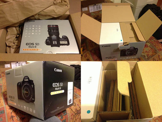 Photog Receives Laminate Flooring After Ordering a Canon 5D MKIII From Dell canonlaminate
