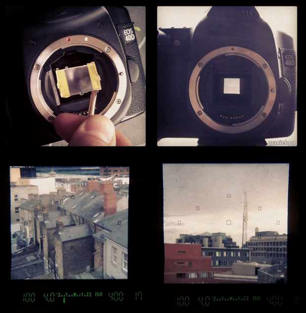 Give Your DSLR a Square Aspect Ratio Viewfinder Using Some Tape squareviewfinder