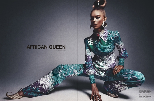 Fashion Mag Uses Photos of White Model to Illustrate African Queen Editorial 