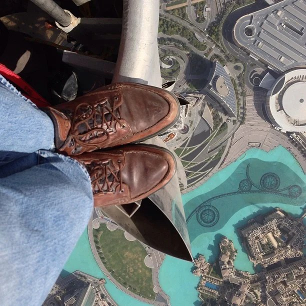 The Mother of All Rooftopping Photos, On Top of the Tallest Building in the World 