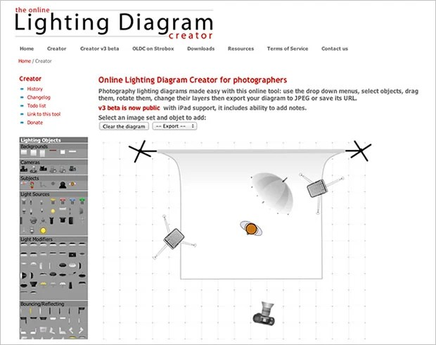Lighting Diagram Creator Lets You Easily Save and Share Your Light Setups Online lightdiagram1