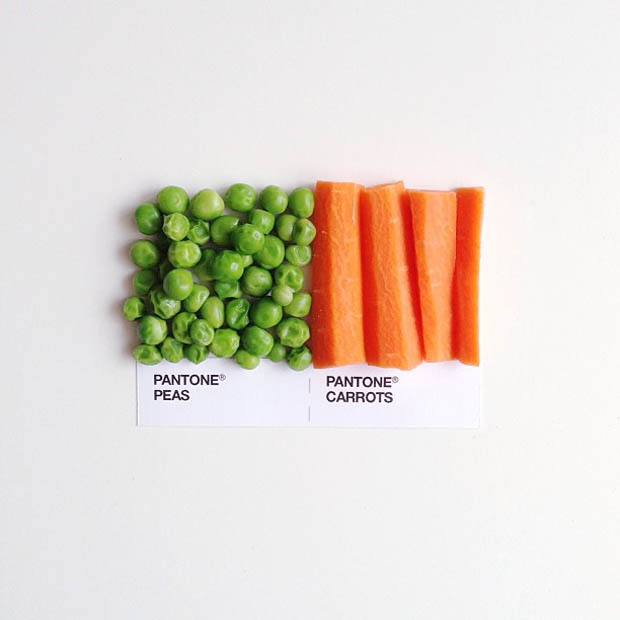 Photographs of Food Paired as Pantone Color Swatches pantonepairings 13
