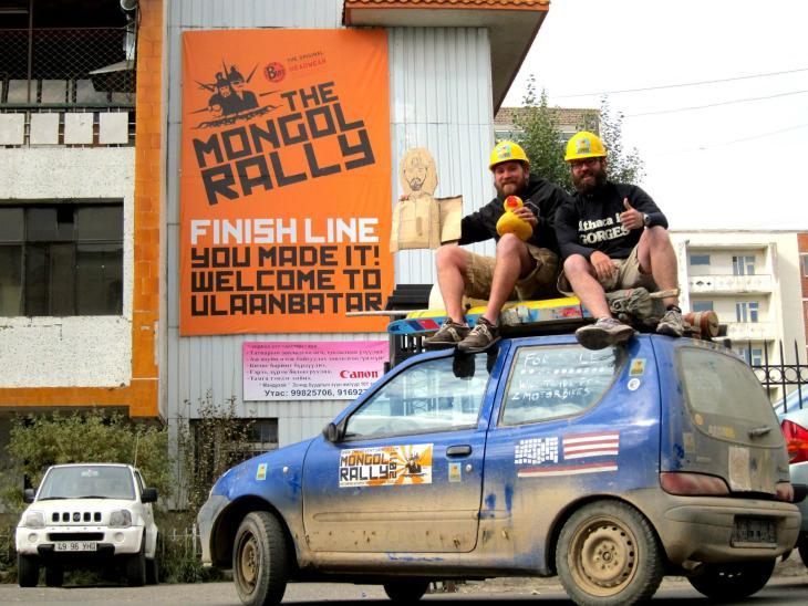 Mongol Rally Finish Line