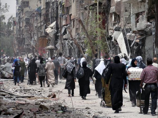 Some Palestinians manage to Excape From Yarmouk