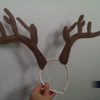 DIY Antler Headband for Christmas
