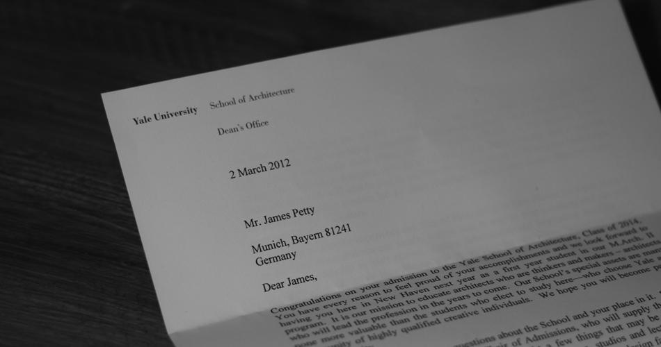 Ivy League Acceptance Letters