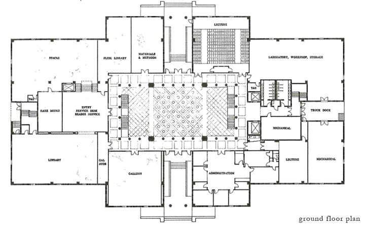 Pedagogy and Place: University of Houston College of Architecture | James Petty | pettydesign | ground floor plan