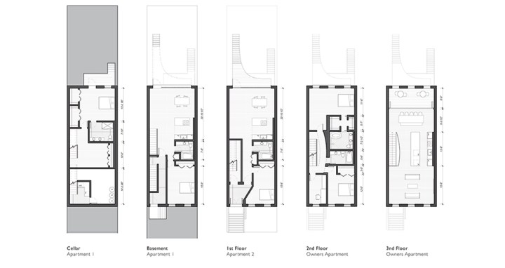 Cobble Hill Brownstone | James Petty | pettydesign | Plans