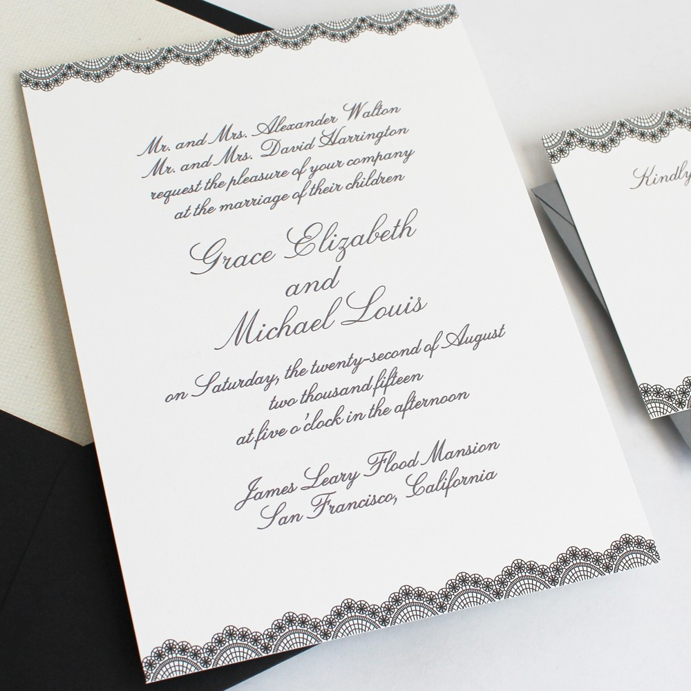 how to word your wedding invitations and assemble them wedding invitations How to Word and Assemble Wedding Invitations