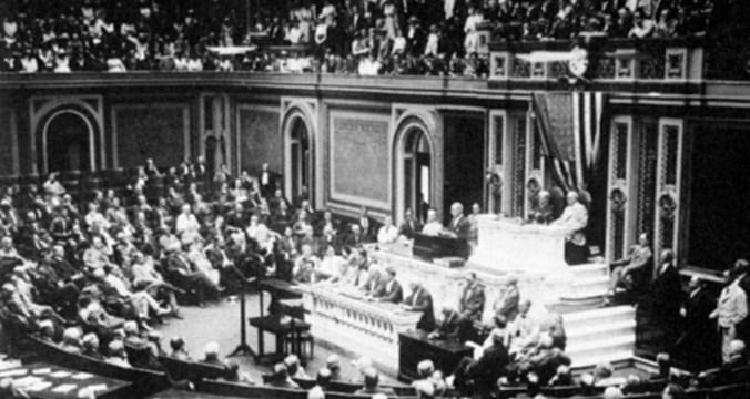 1917_Wilson-declaring-war-on-Germany