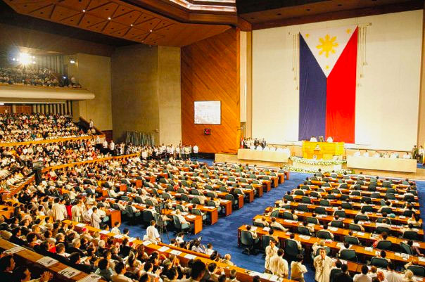Session hall of the House of Representatives in the Philippines.