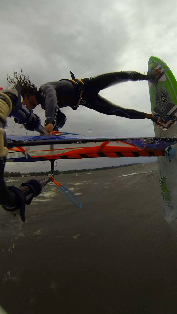 Pushloop - Phil Soltysiak CAN 9 Windsurfing on Lac Champlain. Photo by Adam Wojtkowiak.