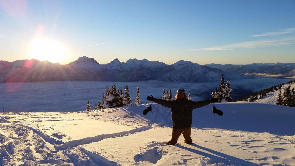 Deep snow at Revelstoke Mountain Resort.