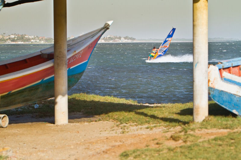 Phil Soltysiak CAN 9 Windsurfing Manglillo, near El Yaque Beach, Isla Margarita, Venezuela. Photo by Tom Brendt.