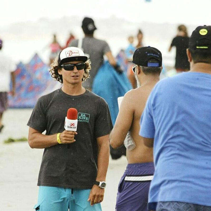 Interview for Venezuela TV during the El Yaque Freestyle Crown.