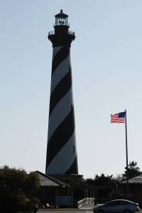 The Cape Hatteras Lighthouse.