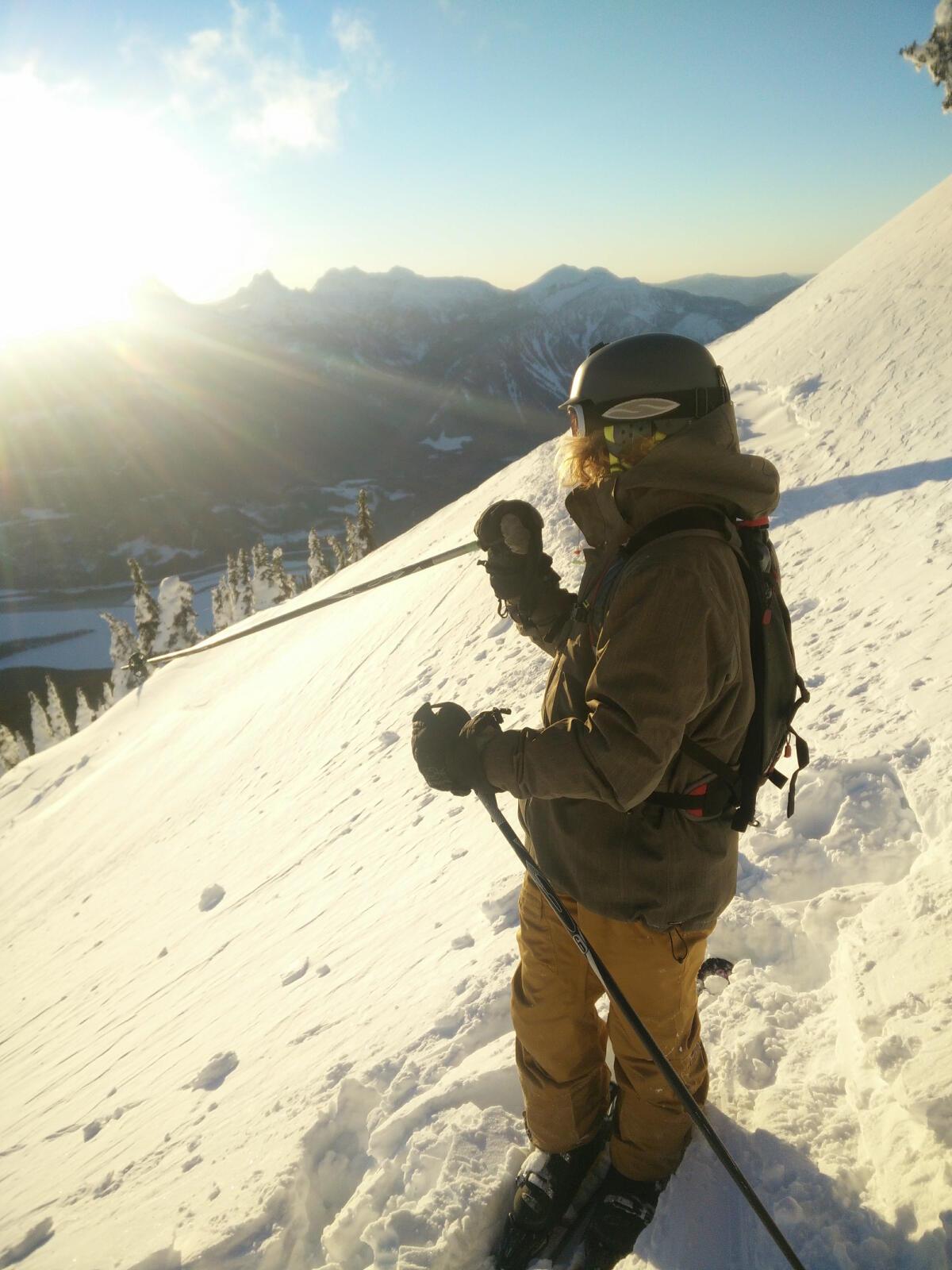 Skiing in Revelstoke, BC