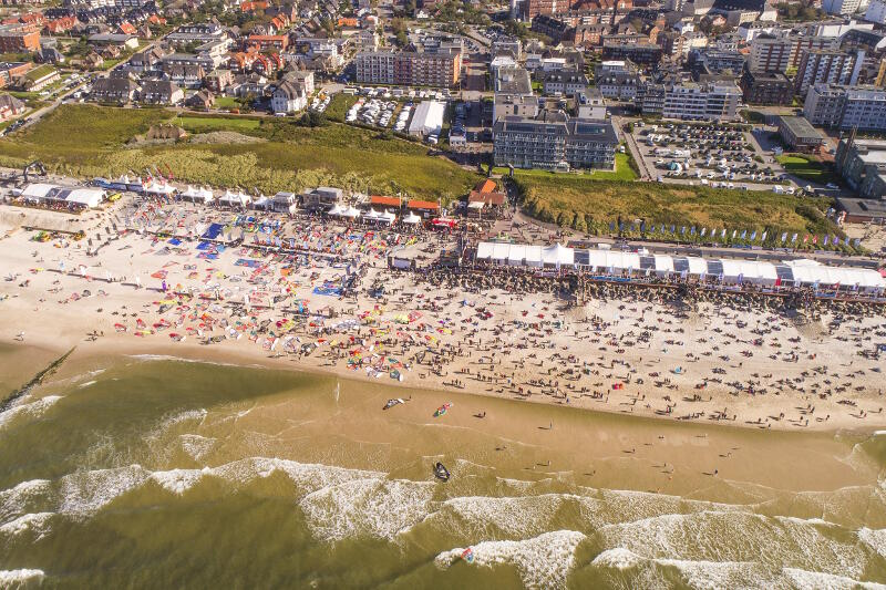 The Sylt PWA Grand Slam from above. Photo by John Carter.