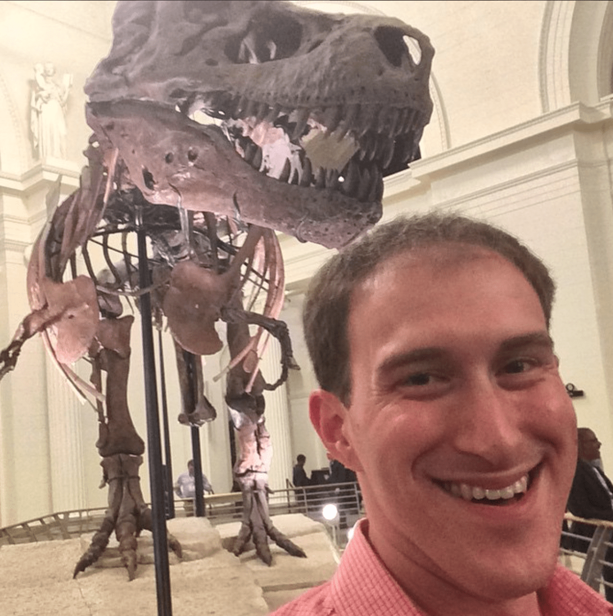 Selfie from the ONA14 party at the Field Museum