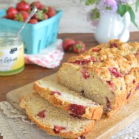 vegan strawberry quick bread