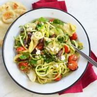 spiralized greek salad
