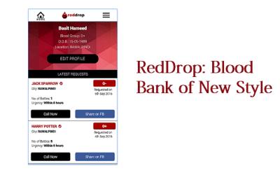 RedDrop: An App Based Blood Bank that Quickly Arranges ...
