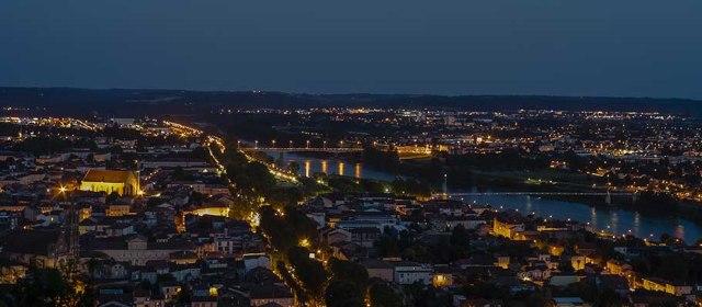 Photo semaine 37: Vue d'Agen la nuit