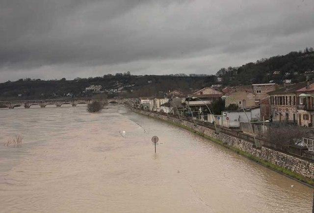 La dernière crue de la Garonne en janvier 2014 a épargné la ville grâce à la digue©photo Patrick Clermont
