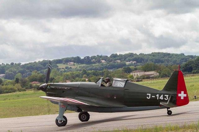 Morane-Saulnier M.S.406 Swiss air force avion de combat Français de la seconde guerre mondiale©photo Patrick Clermont