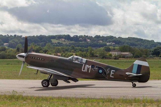Le spitfire PR Mk XIX ©photo Patrick Clermont