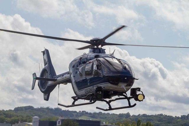 Helicoptere de la gendarmerie EC135 fabriqués par Airbus Helicopters©photo Patrick Clermont