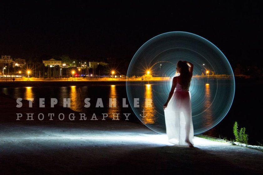 light painting pier