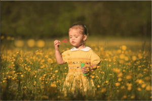 beautiful yellow child photos on instagram