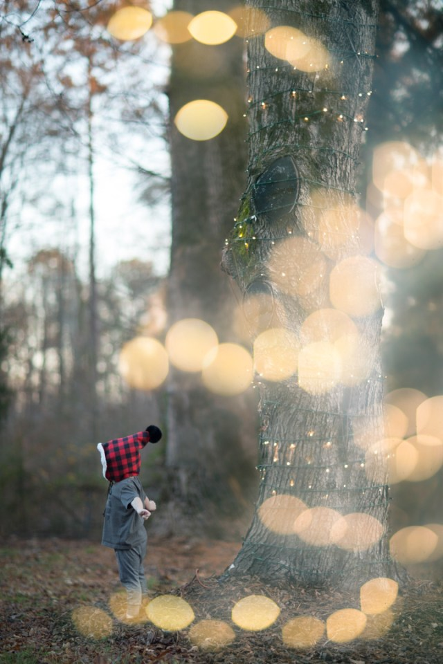 double exposure bokeh