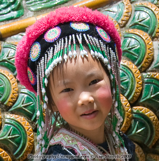 Mountain Tribe Girl at Doi Suthep Chiangmai Thailand