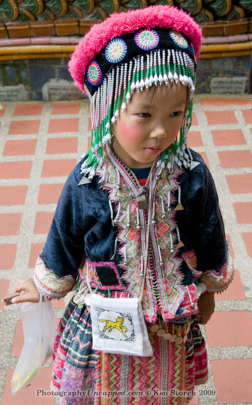 Mountain Tribe Girl at Doi Suthep