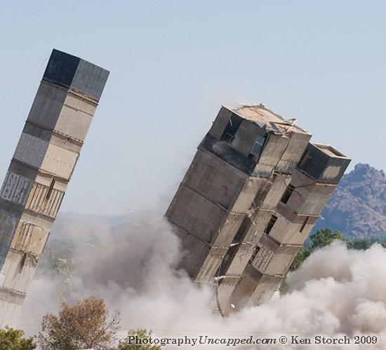 Three Towers Imploding