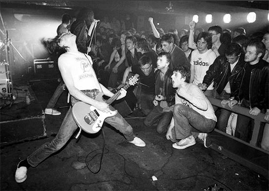 Ian Dickson, The Ramones at Eric's Club, Liverpool England