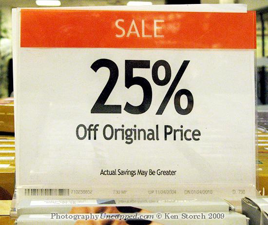 25% Off Original Price
